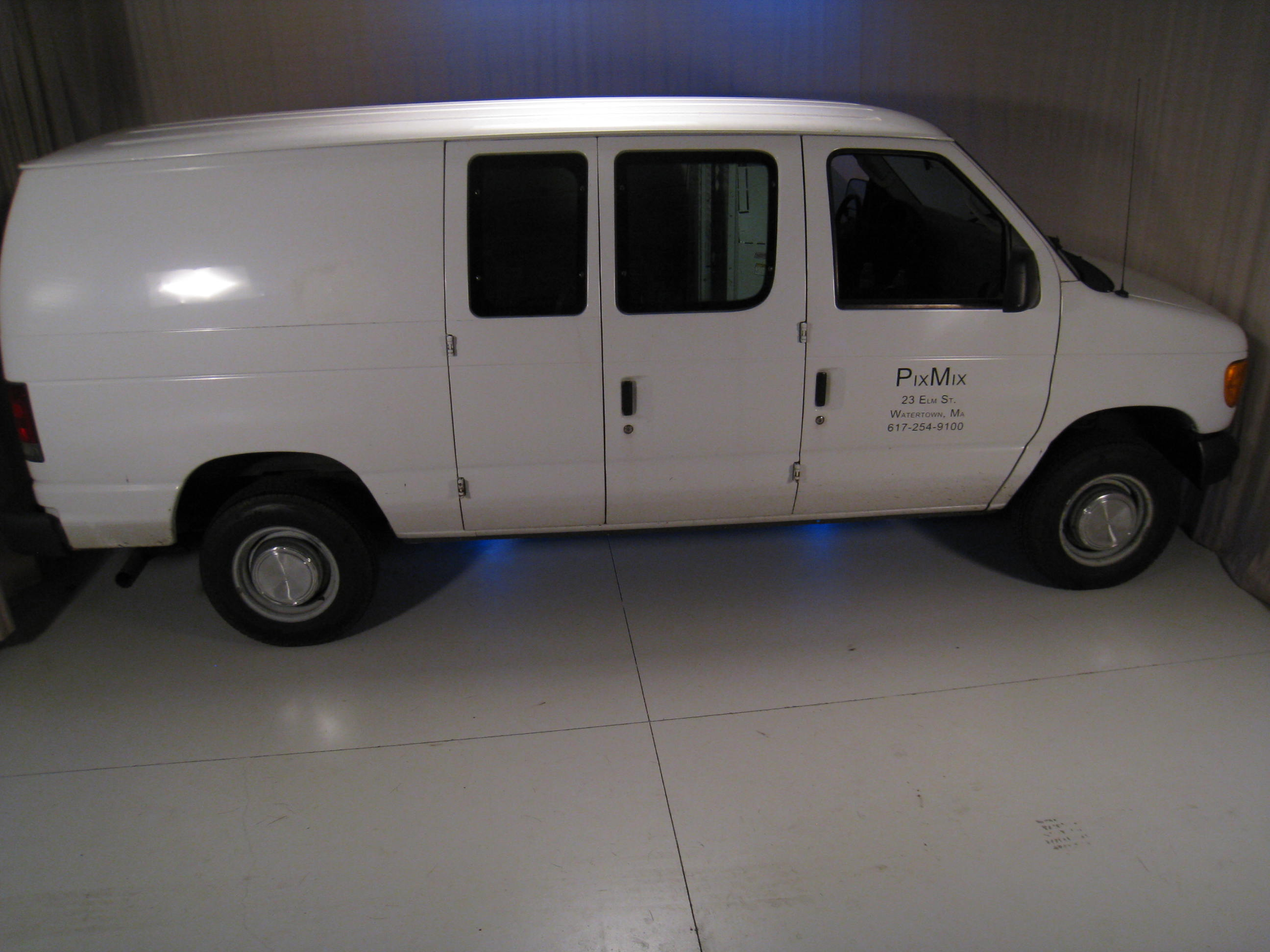 Full Sized Van in Studio